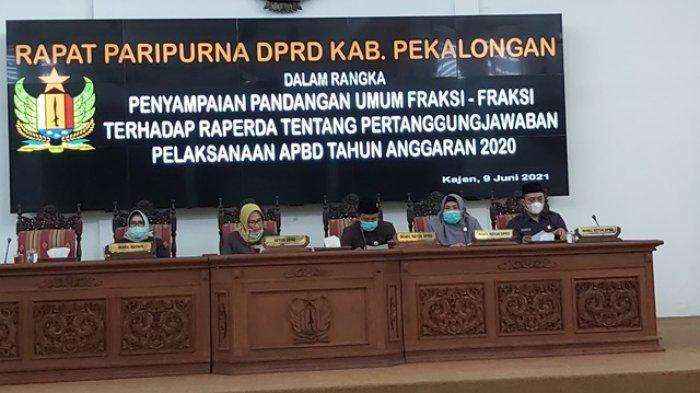 Ini Daftar Catatan Khusus Semua Fraksi DPRD Kabupaten Pekalongan pada Raperda PJP APBD 2020
