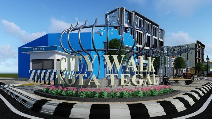 Begini Konsep City Walk di Jalan A Yani, Proyek Rp12,1 Miliar Digadang Jadi Malioboronya Tegal