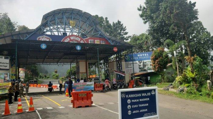 Objek Wisata Guci Kabupaten Tegal Ditutup Sementara 3 Hari untuk Sterilisasi Lingkungan.l
