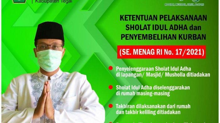 Kantor Kementerian Agama Kabupaten Tegal Minta Pelaksanaan Ibadah Idul Adha di Rumah Saja