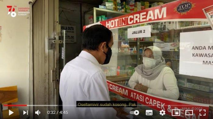Viral, Saat Jokowi Cari Obat Terapi Covid-19 di Apotek, Semua Kosong: Saya Harus Cari ke Mana?