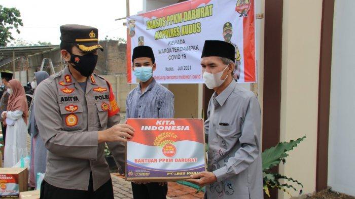 Polres Kudus Salurkan Bantuan Sosial ke Dua Pondok Pesantren