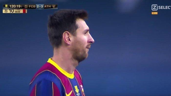 Barcelona vs Bilbao: Kartu Merah Perdana Messi Warnai Kegagalan Barca Juarai Piala Super Spanyol