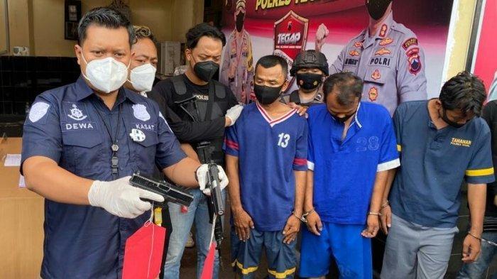 Polres Tegal Ringkus Komplotan Pencuri Spesialis Kabel Tembaga Bersenjata Airsoft Gun