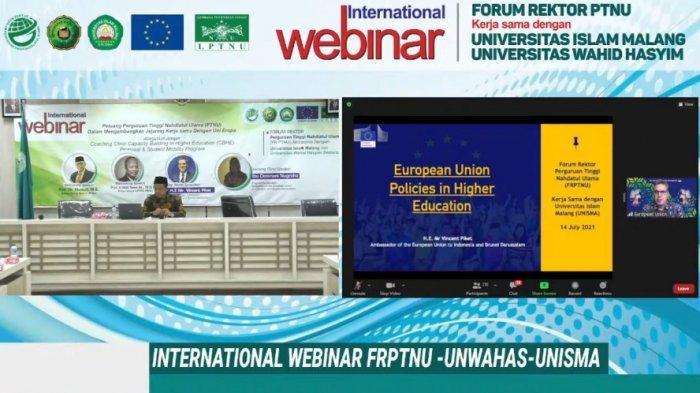 Ihwal Peliuang Kerja Sama dan Beasiswa Pendidikan untuk PT NU, Ini Kata Dubes Uni Eropa