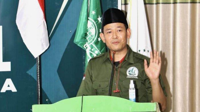 Ketum SNNU, Witjaksono, memberikan sambutan dalam Kongres I SNNU di Lombok Tengah, NTB, kemarin.