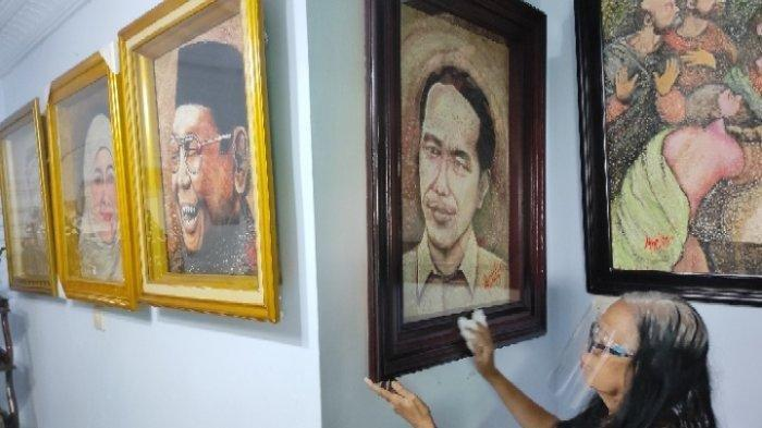 Nenek Pensiunan PNS Sulap Cangkang Telur Jadi Lukisan Keren, Ada yang Diserahkan ke Jokowi