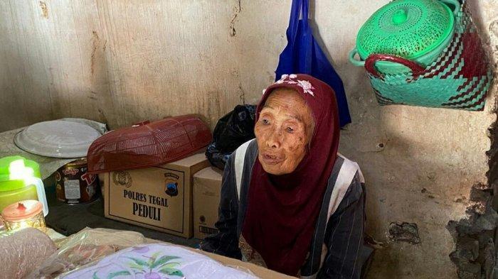 Viral di Medsos, Nenek Murah Makan Nasi Berkuah Air Hujan di Tegal, Kini Dapat Perhatian Kemensos