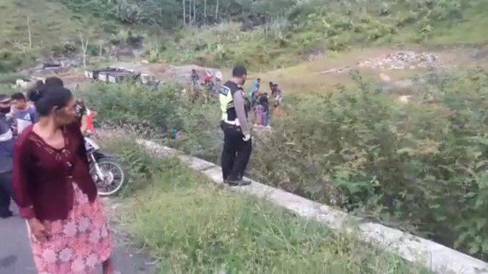 Pasutri dan Anaknya Meninggal Dunia Kecelakaan di Jalur Sembawa Banjarnegara