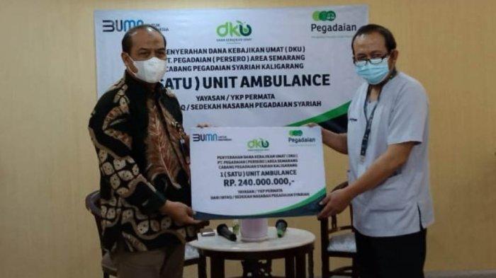 PegadaianSalurkan Bantuan Mobil Ambulans ke Klinik Permata,Edi: Apresiasi Tenaga Medis