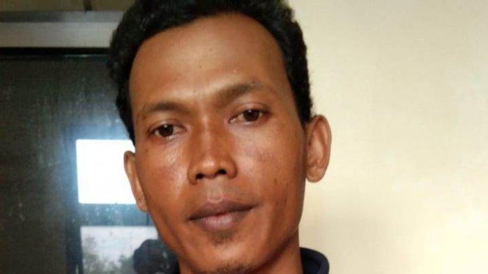 BN (35), warga Temanggung tersangka kasus pengecatan cabai yang berhasil ditangkap Satuan Reserse Kriminal Polresta Banyumas yang bekerjasama dengan Polres Temanggung, pada Kamis (31/12/2020).