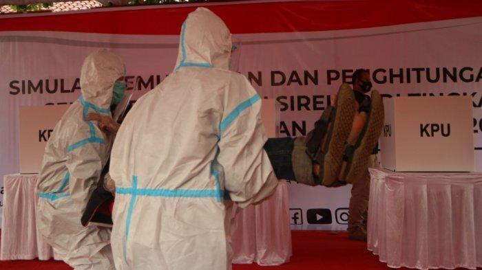 KPU Gelar Simulasi Pemungutan Suara di Masa Pandemi, Setiap TPS Akan Disediakan Hazmat