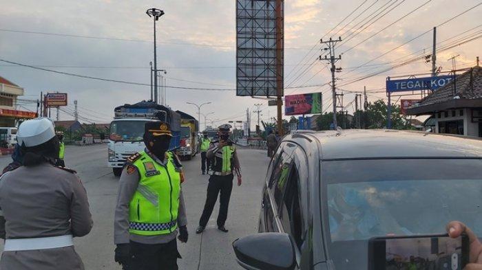 Pemberlakuan PPKM Level Empat di Kota Tegal, Ini Daftar 46 Ruas Jalan yang Masih Ditutup