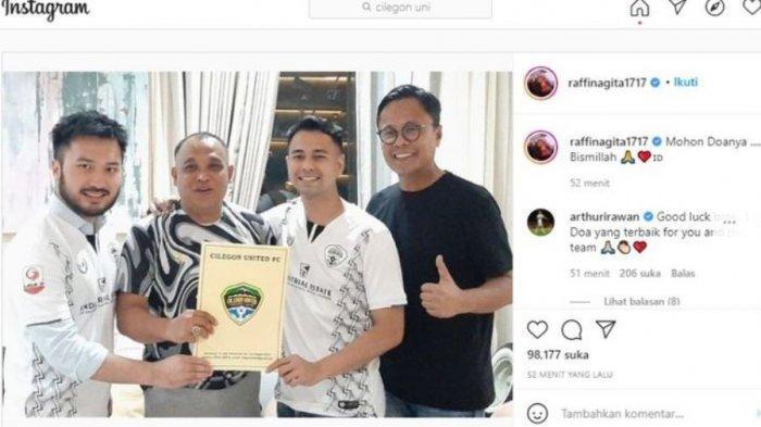 Raffi Ahmad Beli Klub Sepak Bola Liga 2 Indonesia, Cilegon United FC Resmi Berganti Kepemilikan