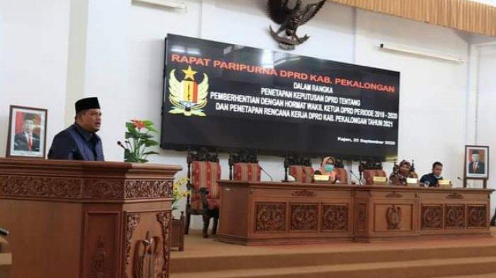 Wakil Ketua DPRD Pekalongan, Riswadi Resmi Munudur dari Jabatannya
