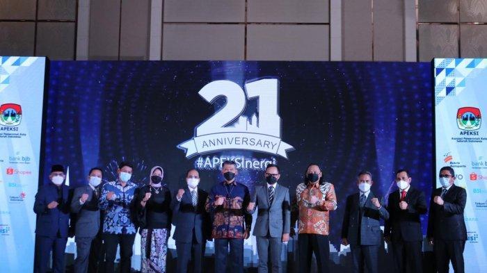 Di Perayaan HUT ke 21 Apeksi, Wali Kota Dedy Yon Minta Semua Bekerjasama Atasi Pandemi Covid-19