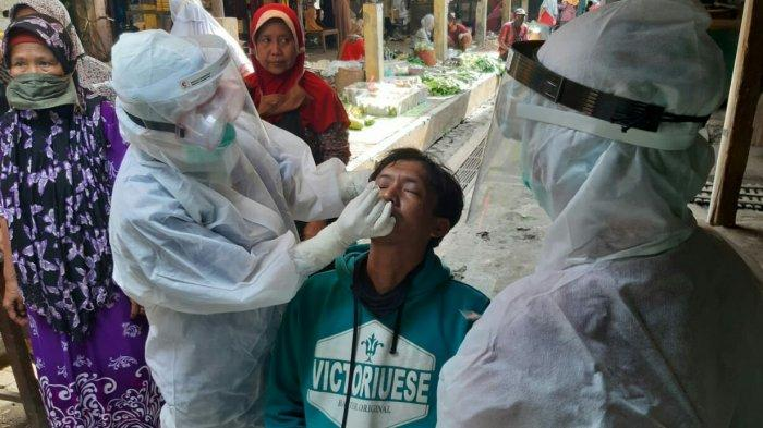 17 Pedagang Positif Covid-19, Pasar Kupu Kabupaten Tegal Ditutup