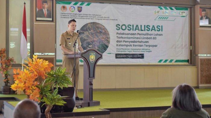Kementerian LHK Lanjutkan Pemulihan Lahan Terkontaminasi Limbah B3 di Kabupaten Tegal