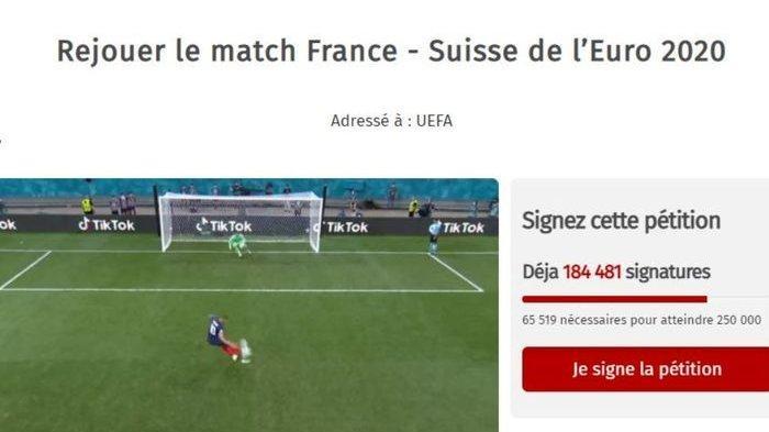 Tak Terima Prancis Gugur di EURO 2020, Lebih dari 240.000 Orang Minta Laga Diulang