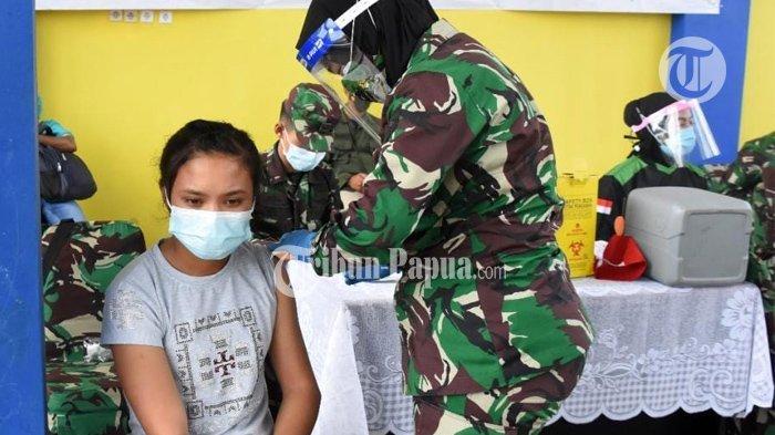 Kodam Kasuari Gelar Vaksin di Terminal Wosi Manokwari