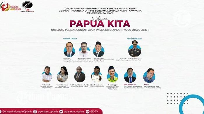 Sedang Berlangsung, Webinar Papua Kita: Pembangunan Sejak Otsus Jilid II