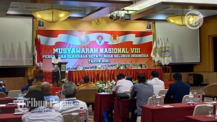 22 Provinsi Hadiri Munas Porserosi Papua, Velix Wanggai Calon Tunggal