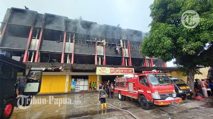 Kebakaran Ruko 3 Lantai di Abepura Diduga Dipicu Korsleting Listrik