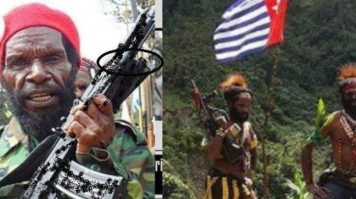 Pimpinan KKB Papua Lamek Taplo dan anggotanya gunakan senapan TNI.