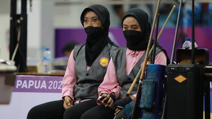 Kakak Beradik Rebut Tiket Semifinal Biliar 9 Ball Double Putri