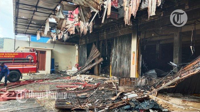 Sempat Ada Teriakan, Ini Kronologis Kejadian Terbakarnya Ruko Rezeki di Abepura