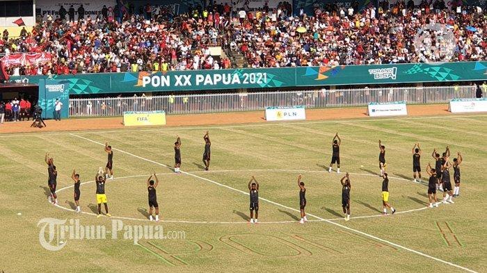 SEDANG BERLANGSUNG Live Streaming Final Sepak Bola Putra PON: Papua Vs Aceh, Cek Linknya