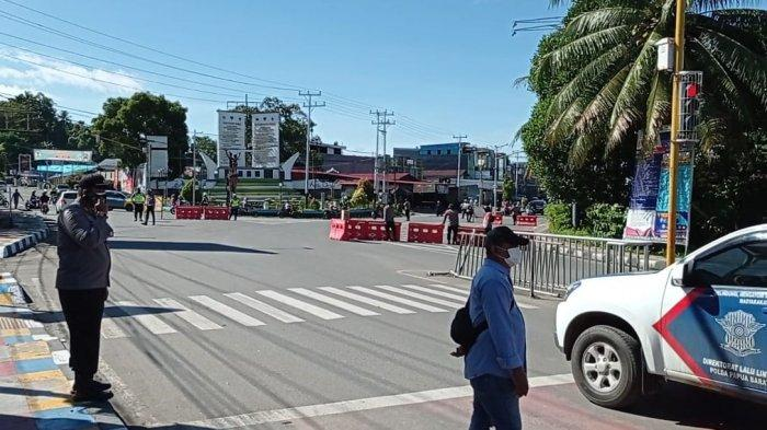 BREAKING NEWS: Aparat Gabungan Sekat Pusat Kota Manokwari Papua Barat