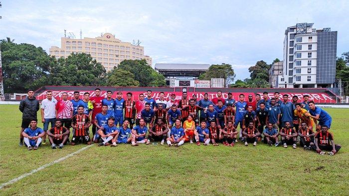 Tim Sepakbola PON Papua Kembali Taklukkan Tim PON Sulut 2-0 di Stadion Klabat Manado