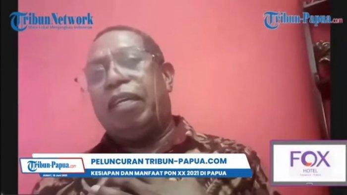 TANGKAPAN LAYAR - Penyanyi asal Papua, Edo Kondologit optimistis Tribun-Papua.com dapat menjadi pembeda dengan media lainnya. Hal ini disampaikannya dalam launching Tribun-Papua.com, Jumat (18/6/2021).