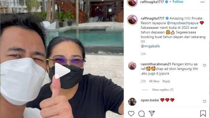 Raffi Ahmad Kunjungi Pantai Holtekamp Kota Jayapura Papua, Fans Riuh di Instagram