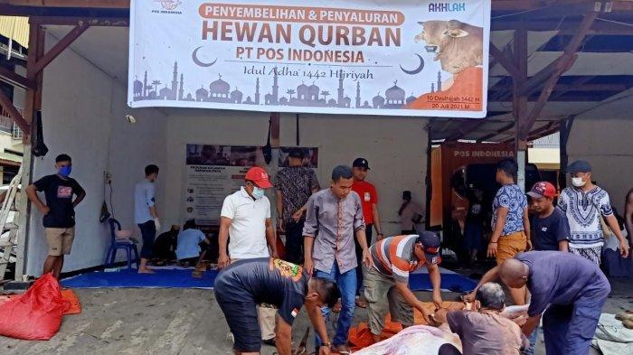 Kurbankan 3 Ekor Sapi di Idul Adha 1442 H, Kantor Pos Papua: Gotong Royong di Masa Pandemi