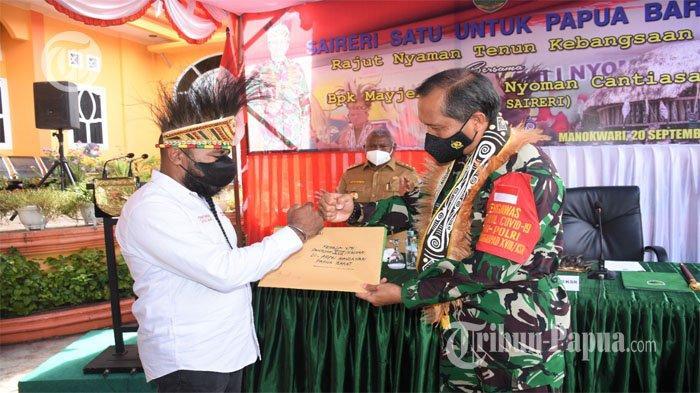 Man Waren Saireri Mayjen TNI I Nyoman Cantiasa Ajak Semua Pihak Jaga Stabilitas Papua Barat