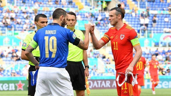 LOLOS - Italia dan Wales lolos ke fase knock-out menyusul tuntasnya Grup B dan C EURO 2020.