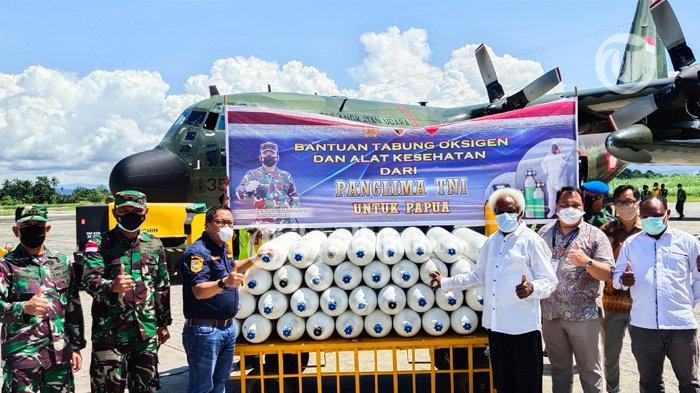50 Tabung Oksigen Tiba di Lanud Silas Papare Sentani Jayapura, Bantuan Panglima TNI