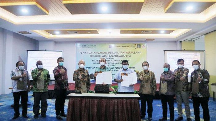 YPMAK PT Freeport Indonesia Daftarkan 10.000 Jiwa dalam Program JKN-KIS