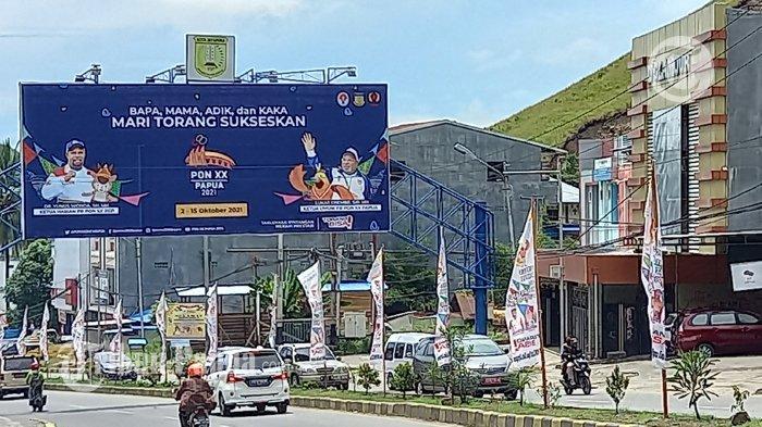 Ratusan Umbul-Umbul PON XX Papua Hiasi Kota Jayapura