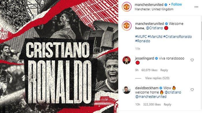 Resmi, Ronaldo Pulang Untuk Manchester United, Harapan City Pupus