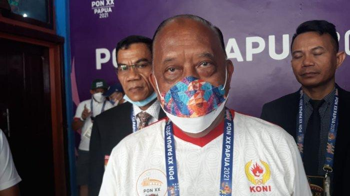 Ketum KONI Marciano Norman Tinjau Pertandingan Sepak Takraw PON Papua
