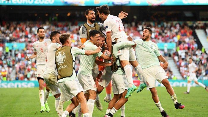 EURO 2020 - Timnas Spanyol melenggang ke babak perempat final EURO 2020 setelah menaklukan timnas Kroasia 5-3 pada babak 16 besar.
