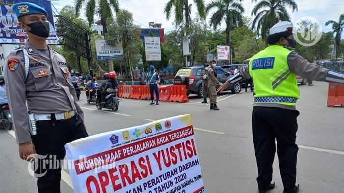 Operasi Yustisi: Razia Masker Dilakukan oleh Petugas di Kota Jayapura