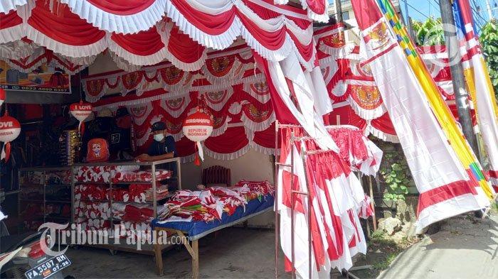 Ini Harga Harga Bendera Merah Putih di Kota Jayaputa, Rp 10 Juta Juga Ada