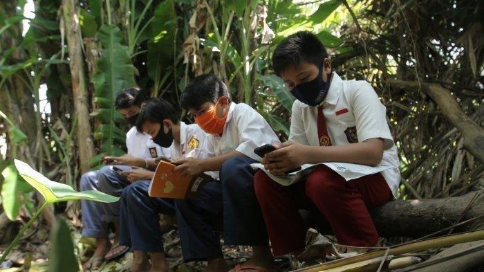 Siswa Belajar Online di Kebun yang Jadi Sarang Ular: Was-was, tapi Mau Beli Kuota Gak Ada Uang