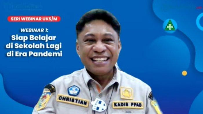 Kadis PPAD Papua Buka Webinar UKS/M Siap Belajar di Sekolah Lagi saat Pandemi