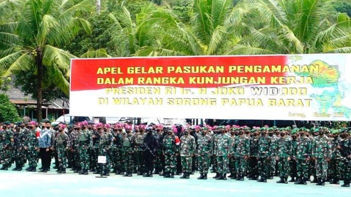 900 Personil TNI-Polri Amankan Kunjungan Jokowi di Sorong.