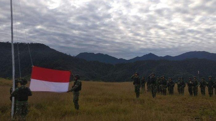 Seusai TNI Tembak Mati Pimpinan KKB Kali Kopi, Bendera Merah Putih Berkibar di Markas KKB Nduga